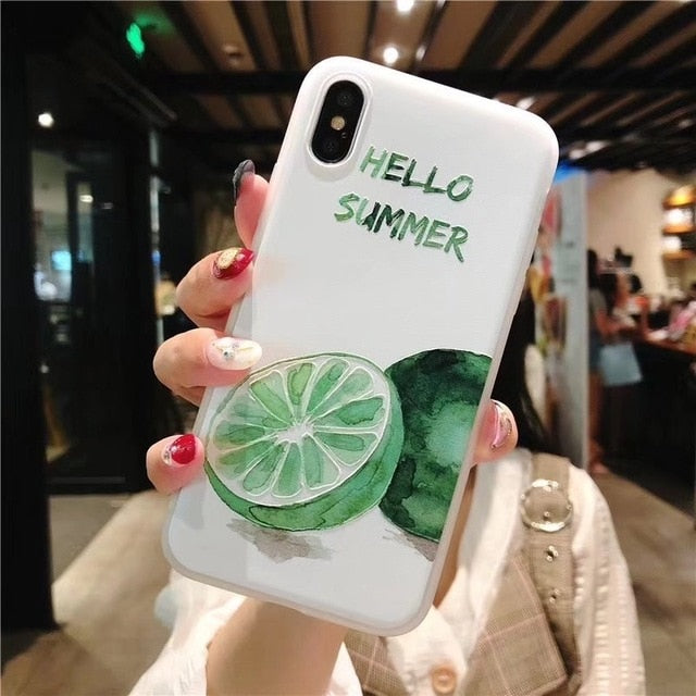 Korea Embossed Fresh Fruit iPhone Case