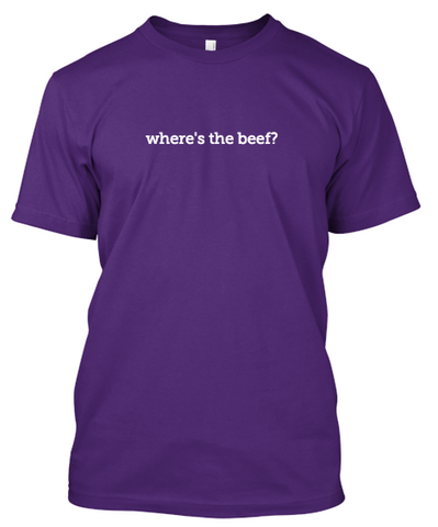 "dare2wear ""where's the beef"" t-shirt"