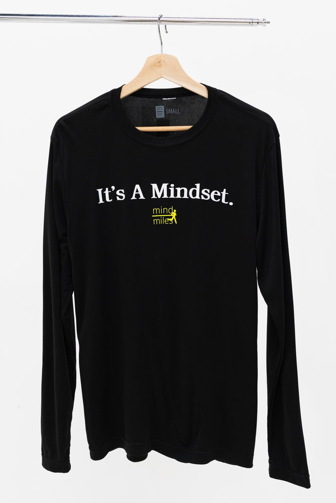 MEN'S BLACK LONG SLEEVE IT'S A MINDSET TEE