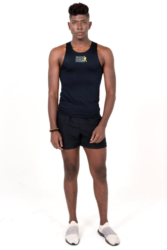 MEN'S BLACK RUNNER TANK