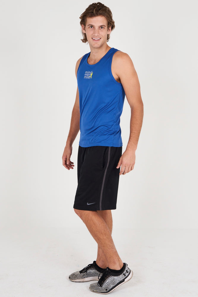 MEN'S BLUE RUNNER TANK