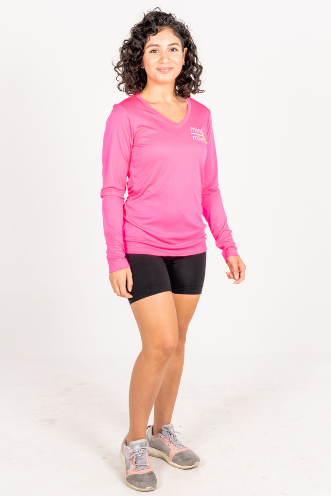 WOMEN'S PINK LONG SLEEVE TEE