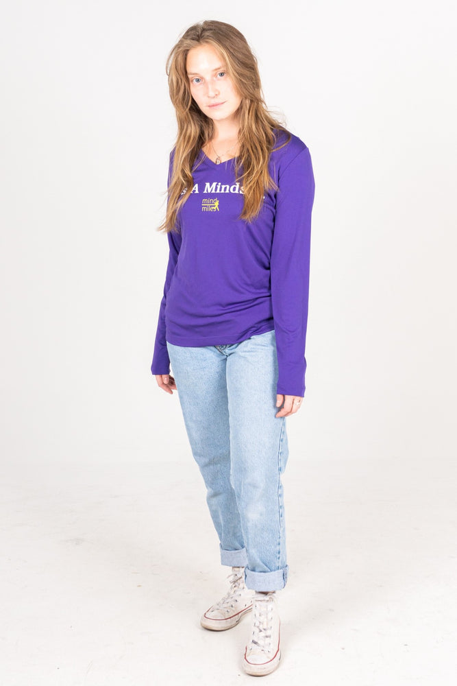 WOMEN'S PURPLE LONG SLEEVE IT'S A MINDSET TEE
