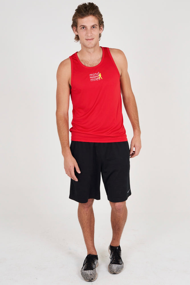 MEN'S RED RUNNER TANK