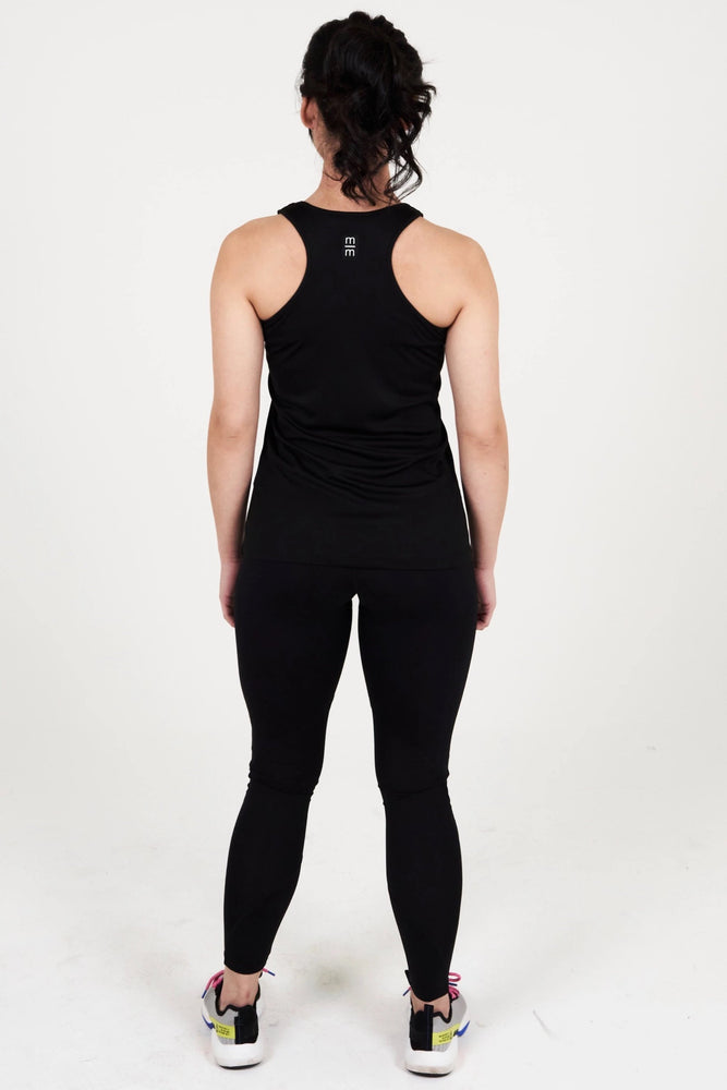 WOMEN'S BLACK RUNNER TANK