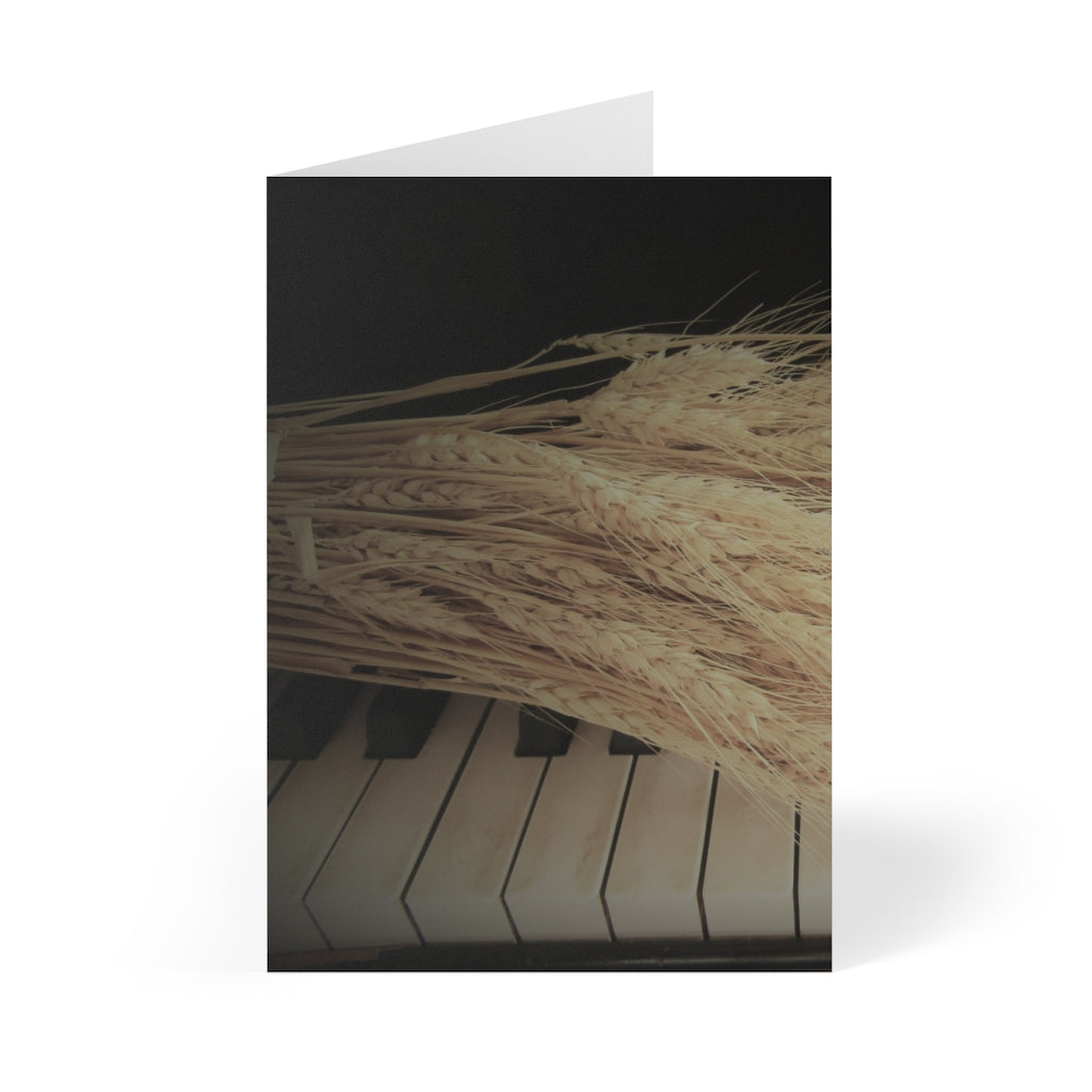 Wheat on Piano Cards 8 Piece