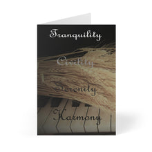 Load image into Gallery viewer, Tranquility, Civility, Serenity, Harmony Greeting Cards (8 pcs)