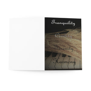 Tranquility, Civility, Serenity, Harmony Greeting Cards (8 pcs)