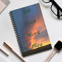 Load image into Gallery viewer, Eat, Sleep, Work, Play Spiral Journal