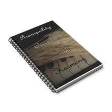 Load image into Gallery viewer, Tranquility, Civility, Serenity, Harmony Spiral Notebook