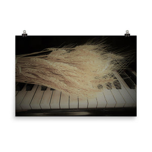 Unframed Print-Harmony. Wheat on Piano