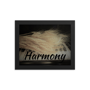 Framed Poster-Harmony-Wheat on Piano