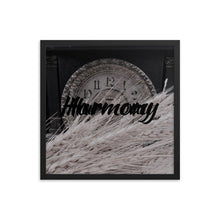 Load image into Gallery viewer, Framed Wheat on Clock, Harmony
