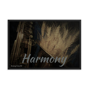 Framed poster-Wheat on Saxophone, Harmony