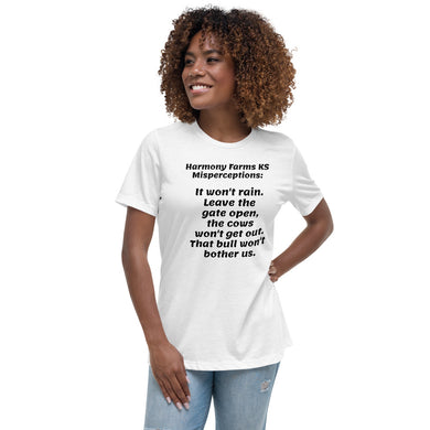 Harmony Farms KS Misperceptions Women's Relaxed T-Shirt