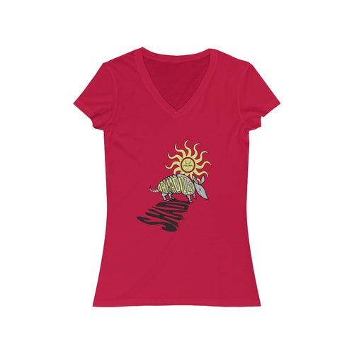 Shady Armadillo Short Sleeve V-Neck Tee