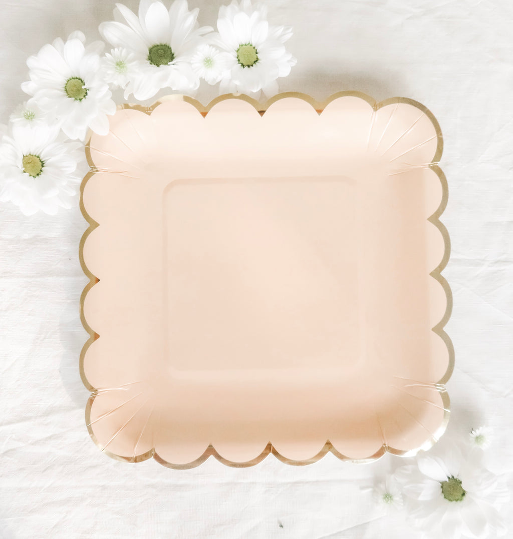 Pretty in Pink Large Plates - Banner & Bow