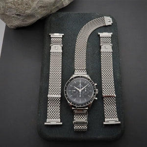 "Forstner Komfit ""JB"" Mesh Watch Band with Straight Ends"
