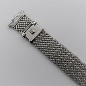 "Wide Version Komfit ""JB"" Mesh Watch Bracelet with Straight Ends"