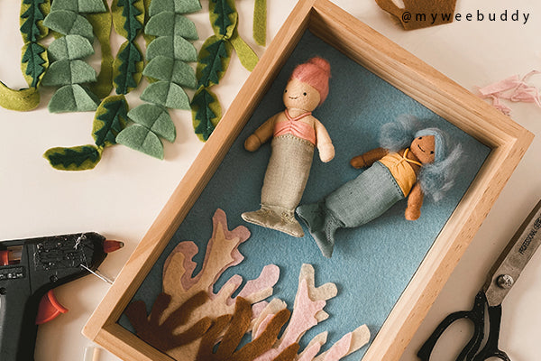 DIY | Make Your Own Felt Seascape for the Holdie Mermaids, Small Toys and Dolls!