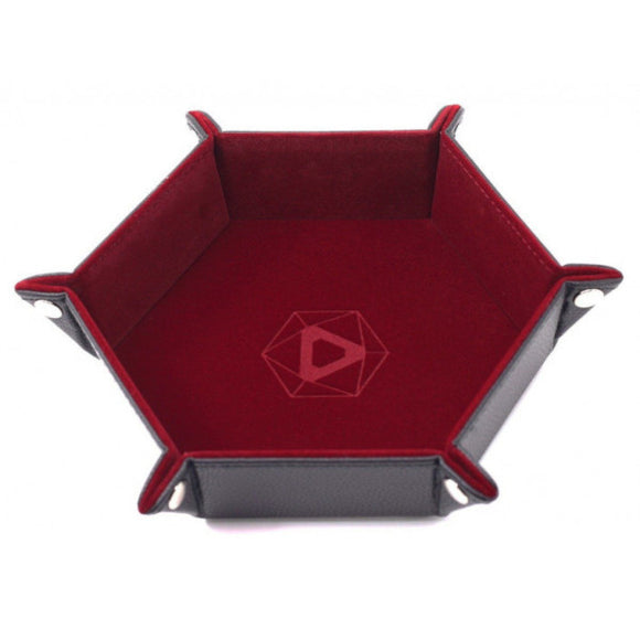 Dice Tray: Die Hard Folding Hex Tray w/ Red Velvet