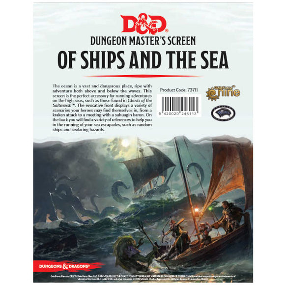 Dungeons & Dragons 5E: Dungeon Master's Screen - Of Ships and the Sea
