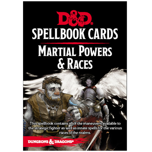 Dungeons & Dragons 5E: Spellbook Cards - Martial Powers & Races