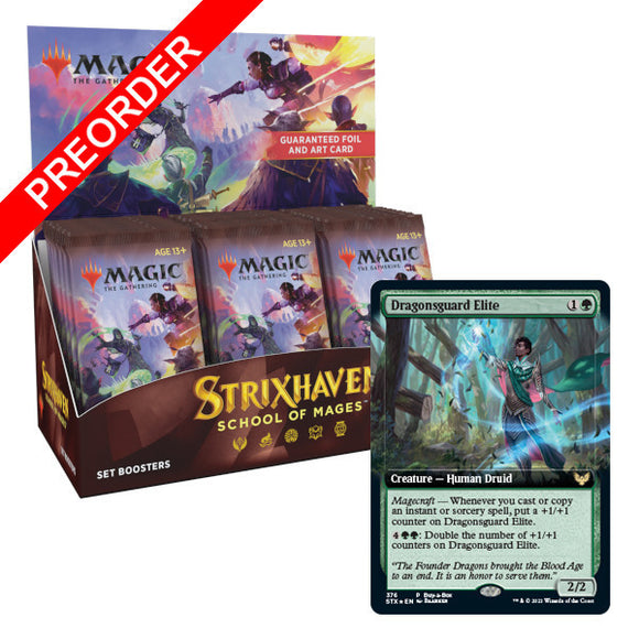 Magic the Gathering: Strixhaven: School of Mages - Set Booster Box & Buy-A-Box Promo