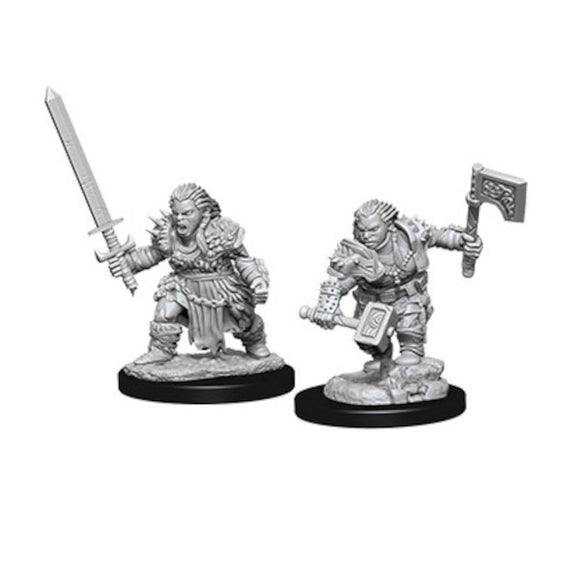 Pathfinder Deep Cuts Unpainted Miniatures: Female Dwarf Barbarian (Wave 8)