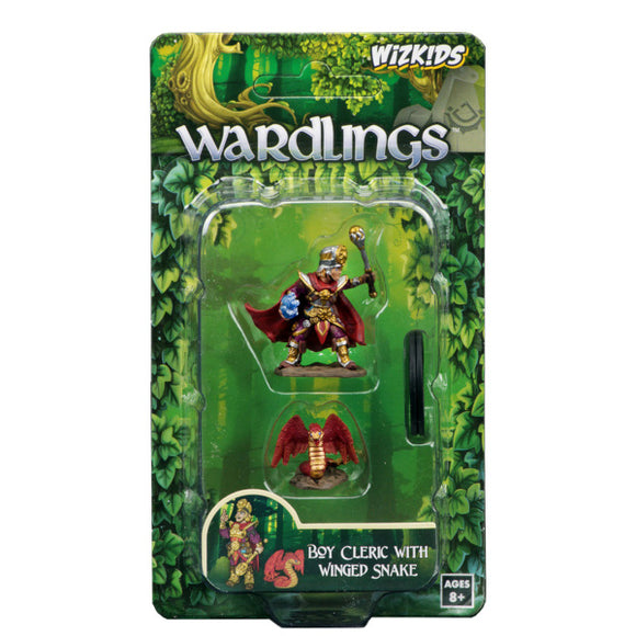 WizKids Wardlings: Premium Figures - Boy Cleric & Winged Snake (Wave 2)
