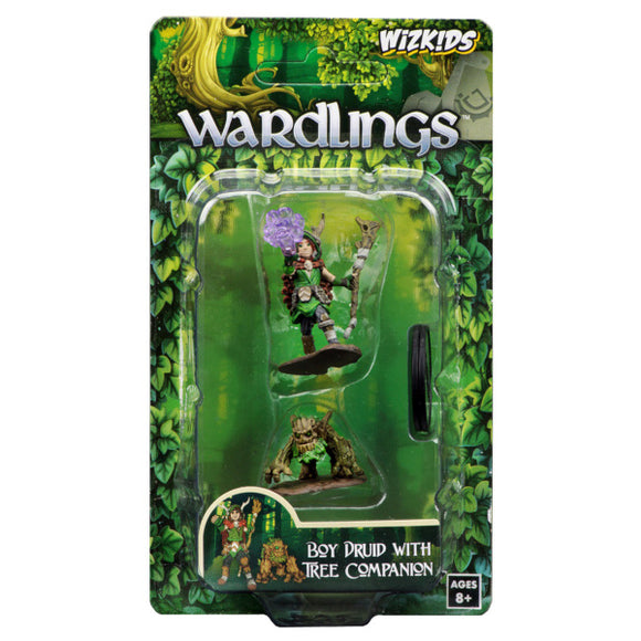 WizKids Wardlings: Premium Figures - Boy Druid & Tree Creature (Wave 2)