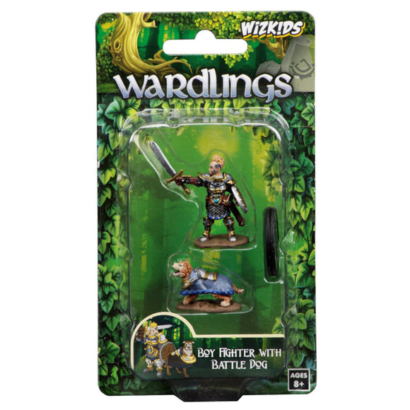 WizKids Wardlings: Premium Figures - Boy Fighter & Battle Dog (Wave 2)