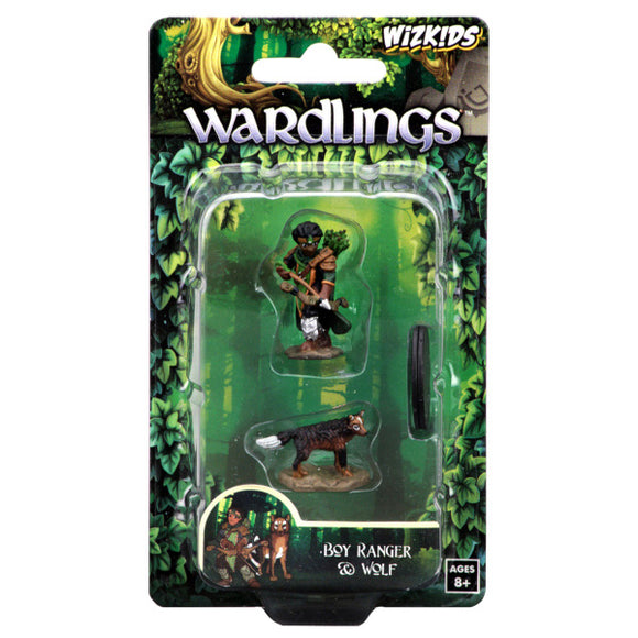 WizKids Wardlings: Premium Figures - Boy Ranger & Wolf (Wave 1)