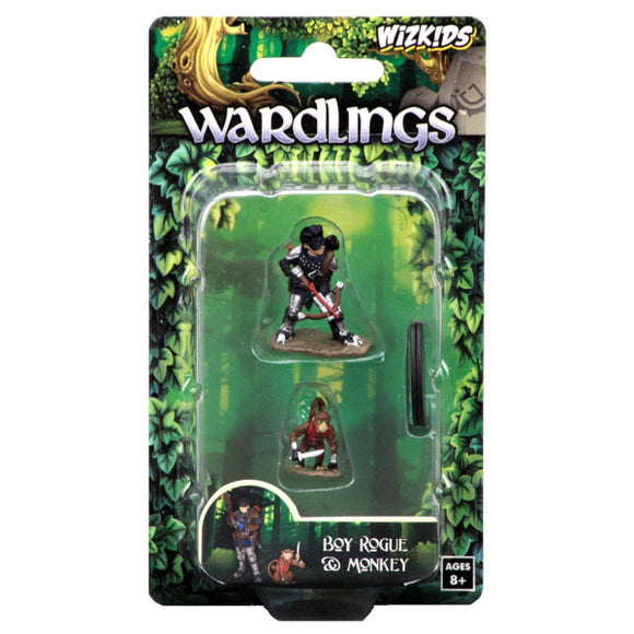 WizKids Wardlings: Premium Figures - Boy Rogue & Monkey (Wave 1)