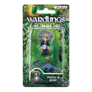 WizKids Wardlings: Premium Figures - Boy Warlock & Lizard (Wave 3)