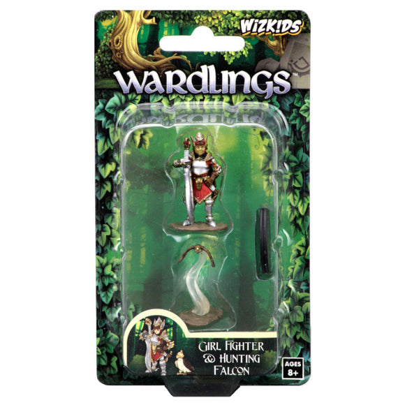 WizKids Wardlings: Premium Figures - Girl Fighter & Hunting Falcon (Wave 1)