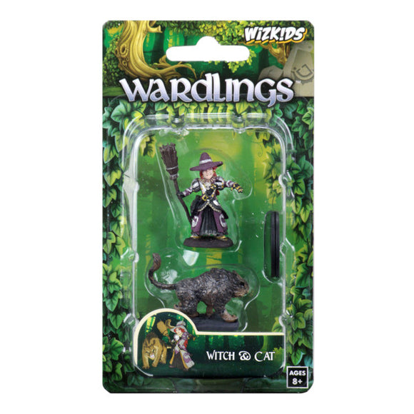 WizKids Wardlings: Premium Figures - Girl Witch & Witch's Cat (Wave 3)