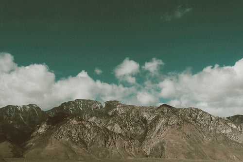 Mountains In The Californian Desert Photographic Art Print