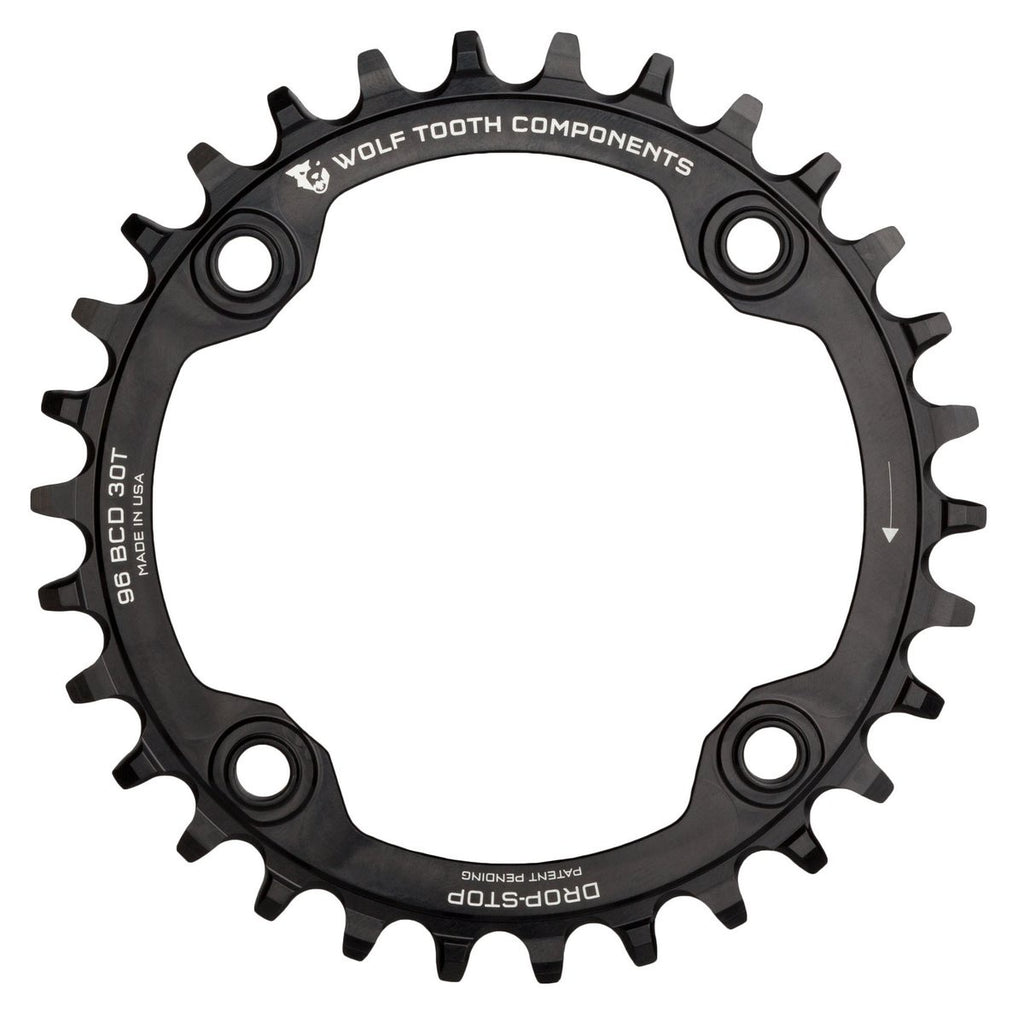 Wolftooth Chainring BCD Symmetrical Shimano Compact Triple 96x30T-Black