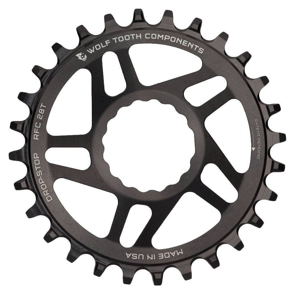 Wolftooth Direct Mount Chainring for Race Face Cinch 34T (49mm chainline/6mm offset)-Black