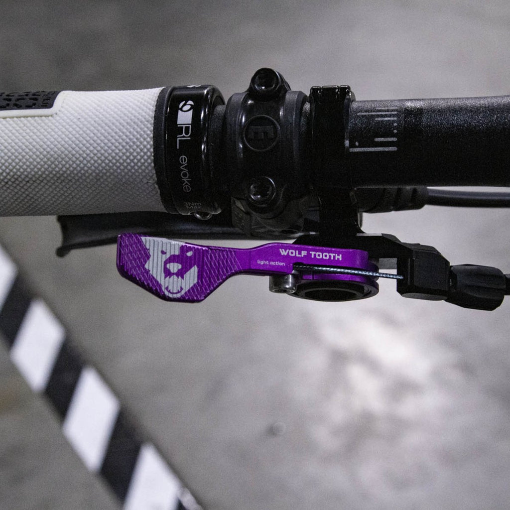 Wolftooth Remote Light Action 22.2mm Handlebar Clamp-Limited Edition Purple