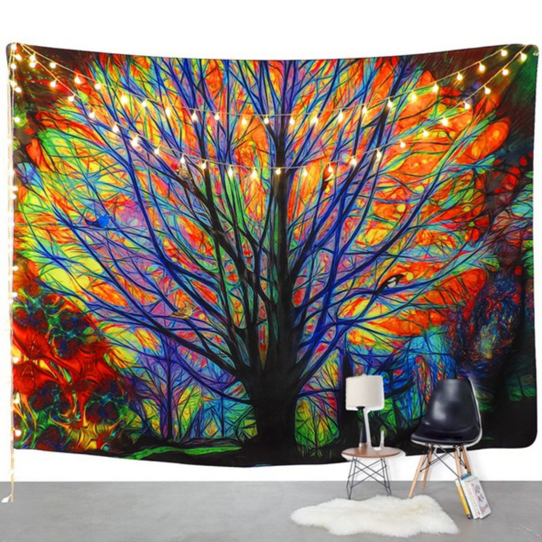 Bohemian Colorful Tree Tapestry