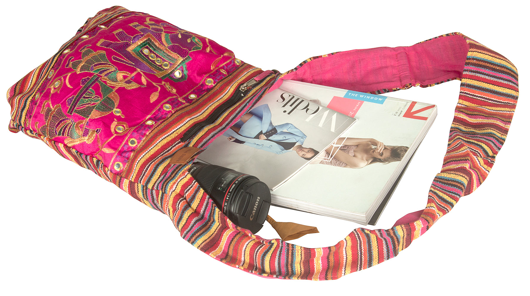 Pink Hobo Bohemian Shoulder Bag