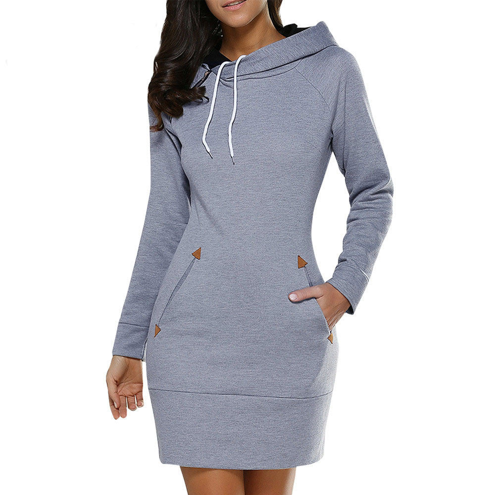 Casual Sweatshirt Dress | Hoodie Dress