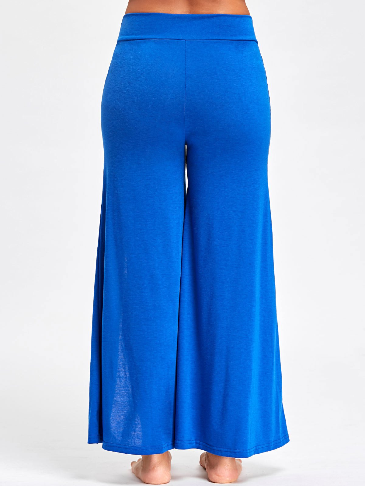 High Split Palazzo Pants - Blue