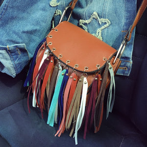 Boho gal bohemian purse crossbody leather bag purse