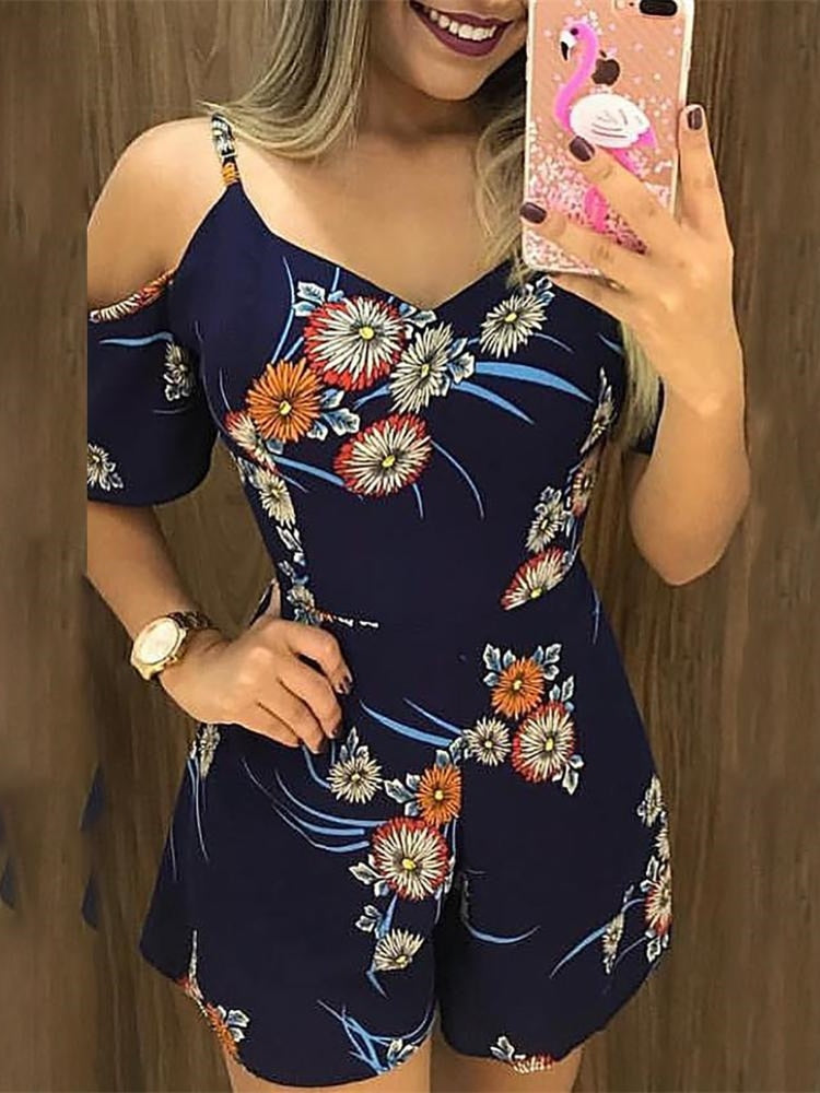 Floral Casual Romper