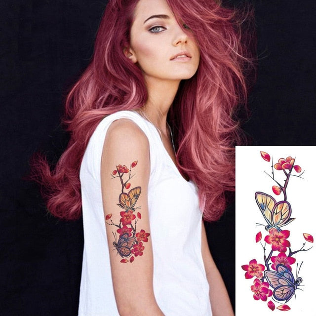 roses body tattoo for women