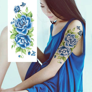 blue temporary tattoo