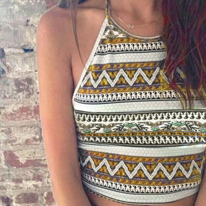 Tribal Print Boho Tank Top